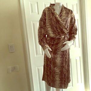 SHEIN Snakeskin Shirt Dress Large